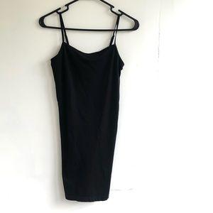 Free People Seamless Mini Slip Dress Black XS